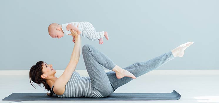 Pilates-Training prä- und postnatal